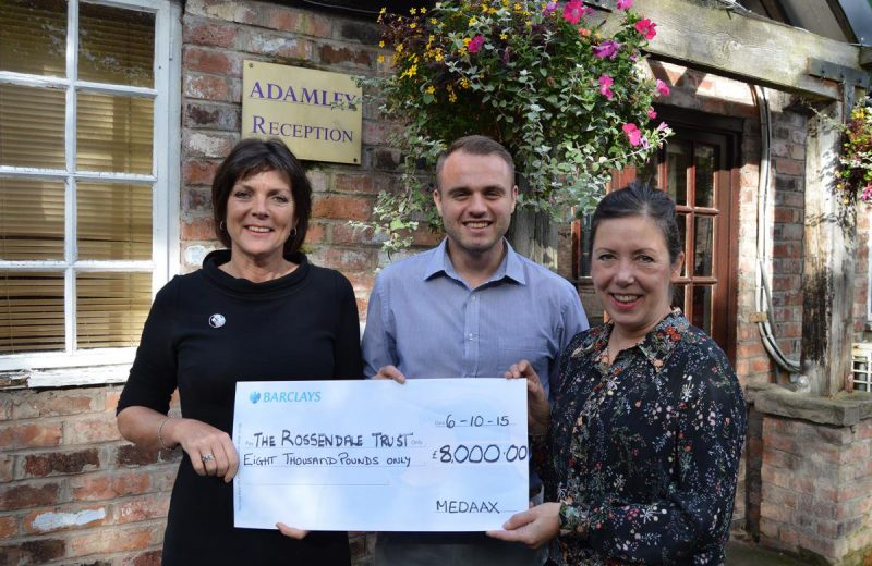 Adamley supports local charity