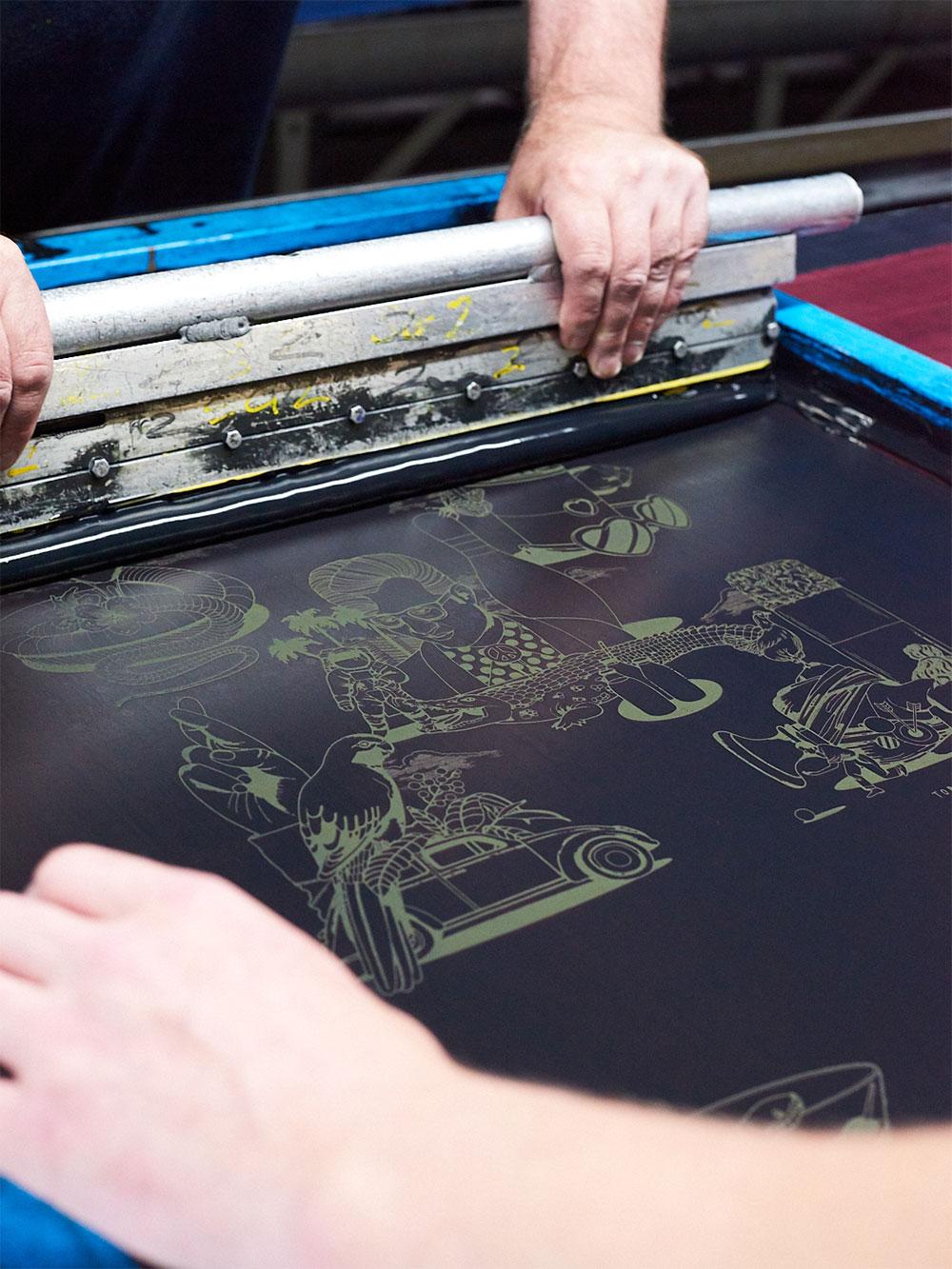 screen printing on silk