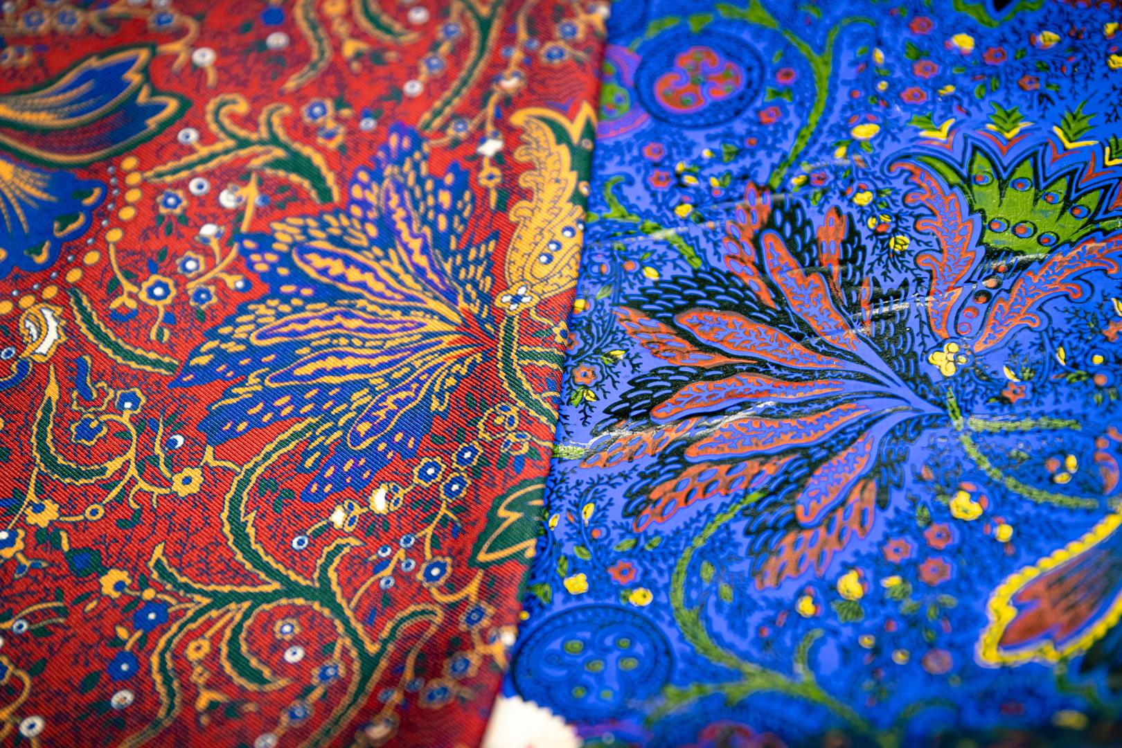 adamley screen printed silk