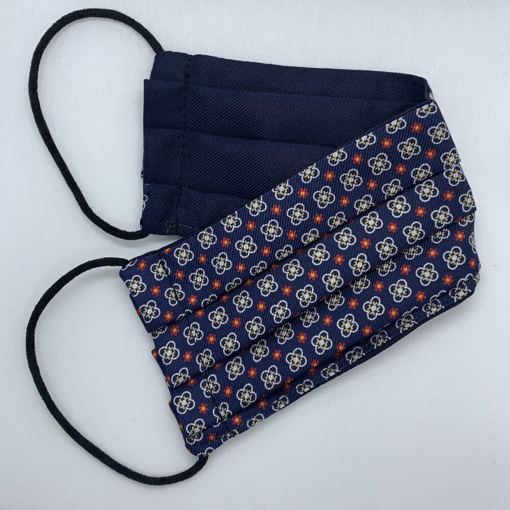 Navy/Red Neat Silk Face Mask