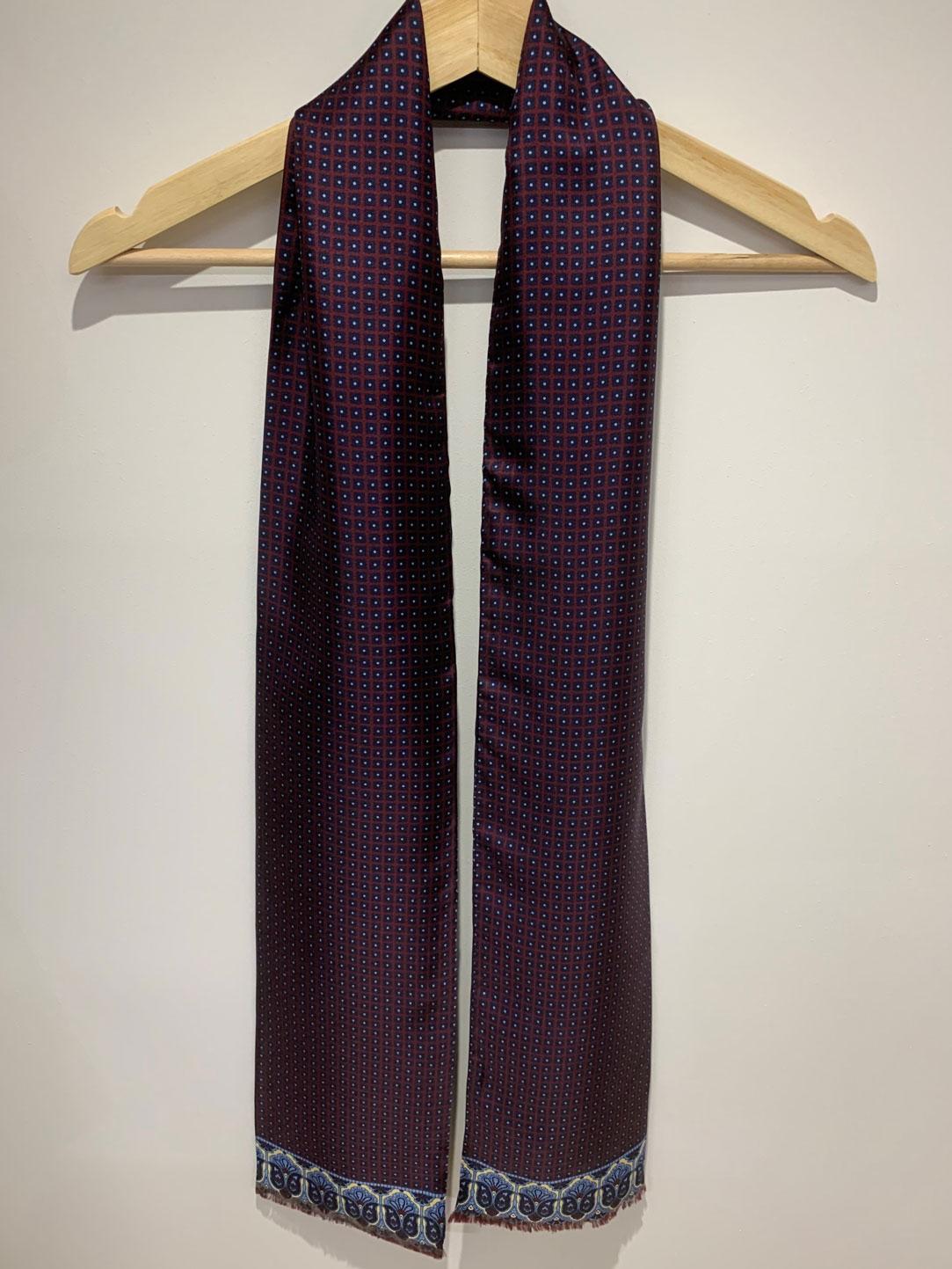 Neat border – Large Silk Scarf