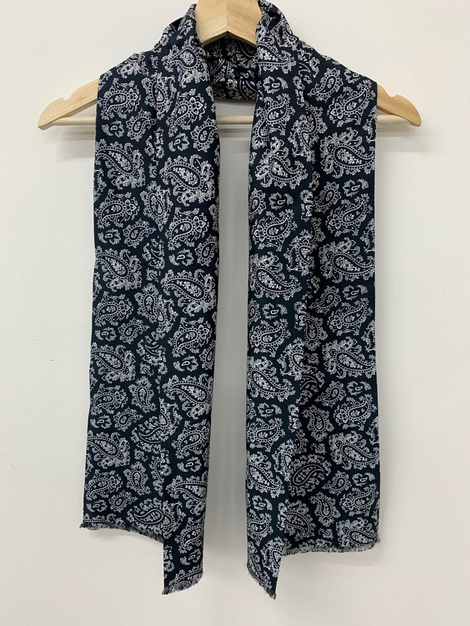 Paisley Cotton Silk Scarf