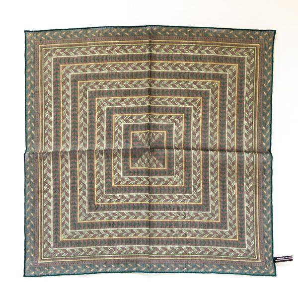 Arrow Silk Pocket Square - RedGold