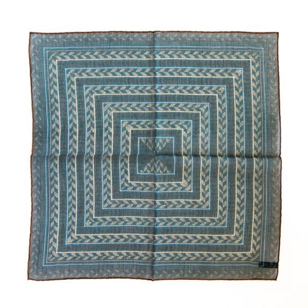 Arrow Silk Pocket Square - TealSky