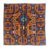 Aztec Silk Pocket Square - NavyOrange