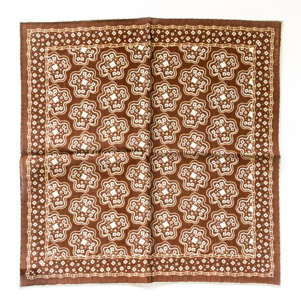 Cross Silk Pocket Square - BrownSky