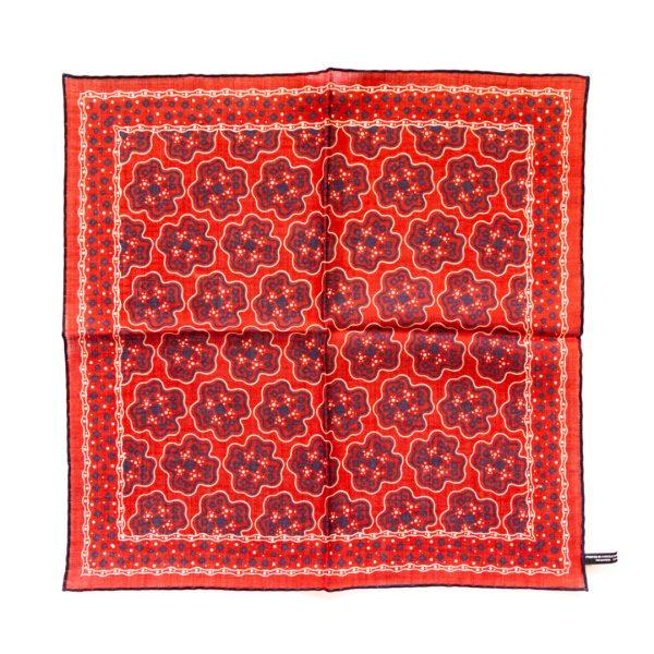 Cross Silk Pocket Square - RedNavy