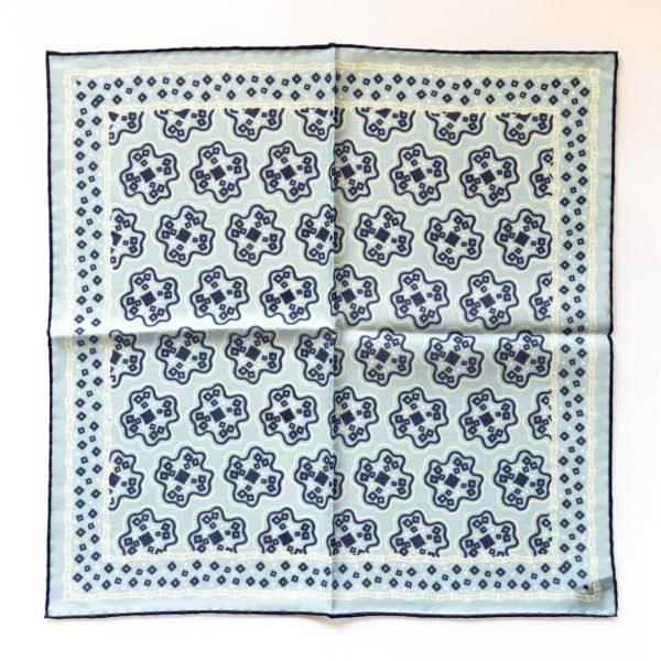 Cross Silk Pocket Square - SkyNavy