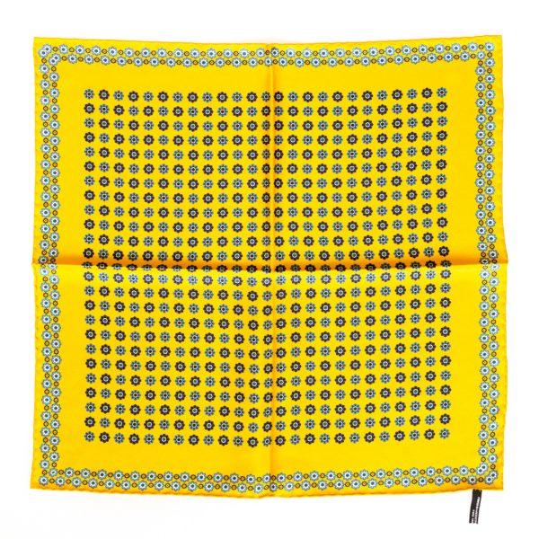 Flower Silk Pocket Square - yellow
