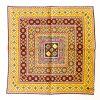 Geo Silk Pocket Square - GoldRed