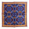 Medallion Silk Pocket Square - OrangeBlue