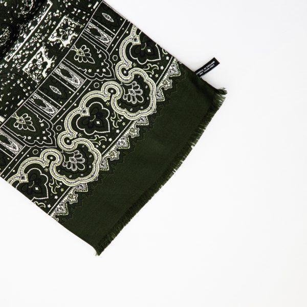 Mono Abstract Silk Scarf - Green
