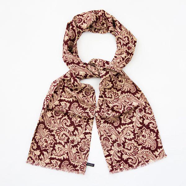 Mono paisley silk scarf - Wine