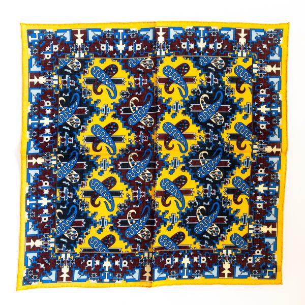 Pine Silk Pocket Square - YellowBlue