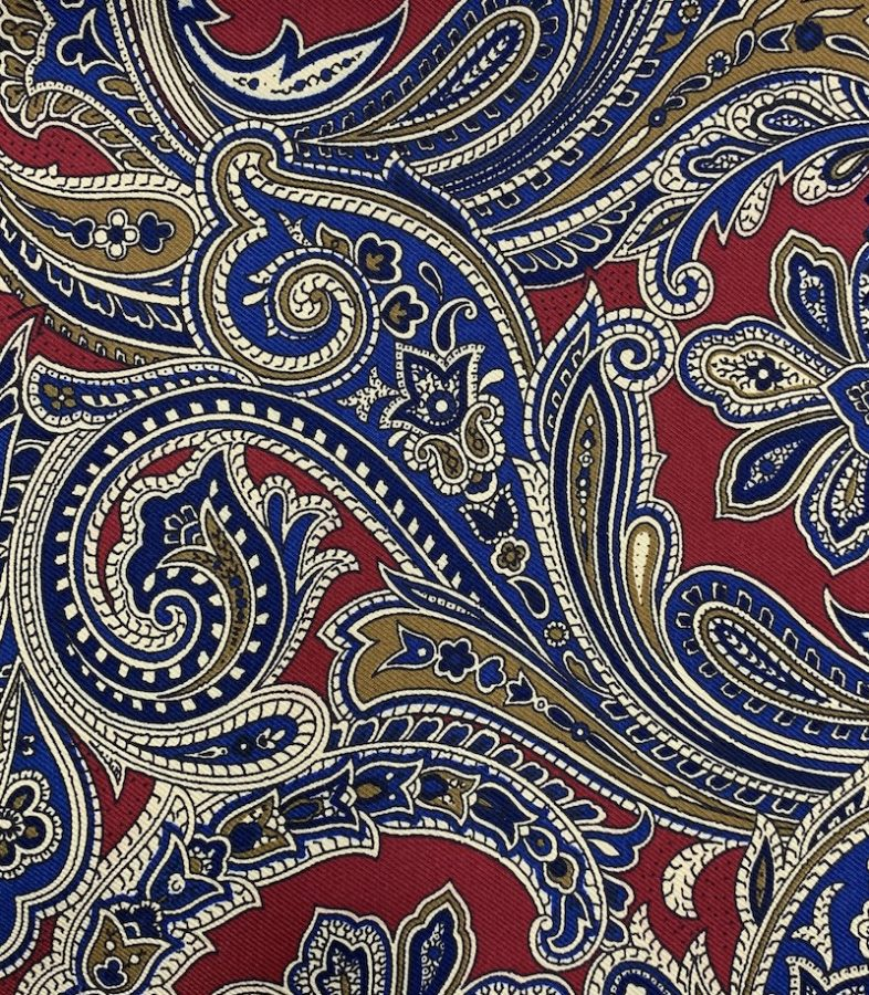 ancient madder printed silk